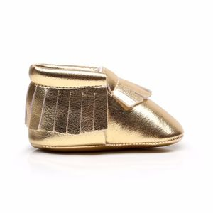 Other - New shiny gold soft sole baby toddler moccasins